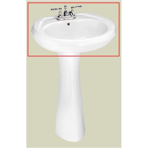 Stafford Center Petite Pedestal Bathroom Sink