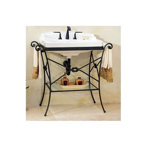 St Thomas Creations Granada Console Table with Neo - Venetian Petite Bathroom Sink