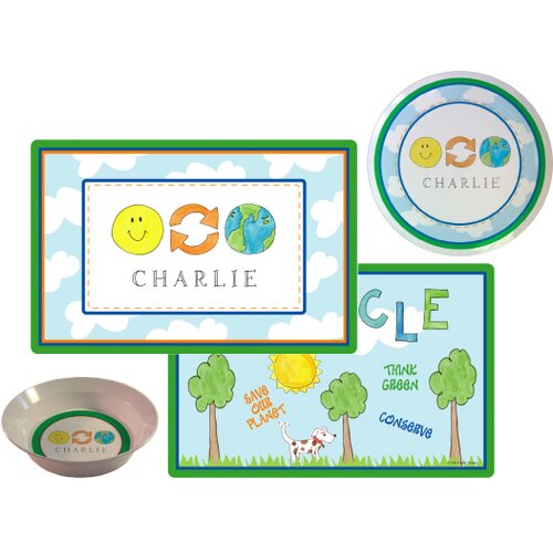 Kids Tabletop Save Our Planet Plate and Placemat Set