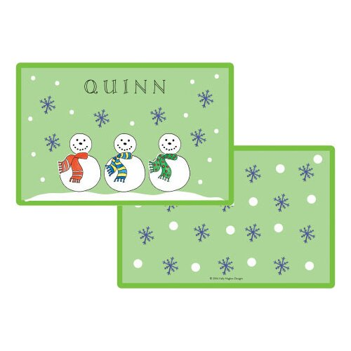 The Kids Tabletop Jolly Snowmen Placemat