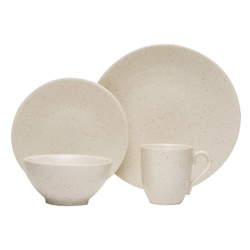 Oatmeal 16 Piece Dinnerware Set