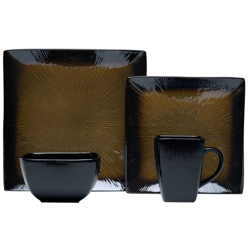 Square 16 Piece Dinnerware Set