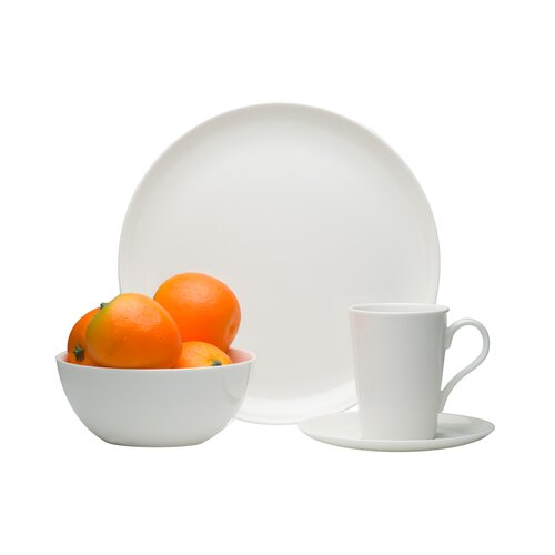Pure Vanilla Coupe 16 Piece Dinnerware Set
