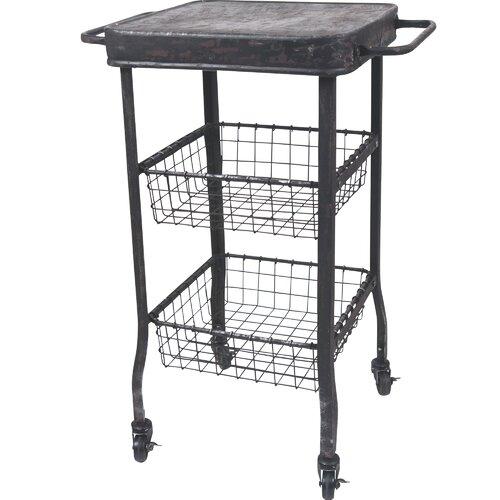 Metal 2 Drawer Rolling Cart