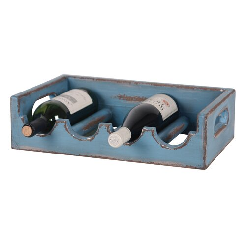 Wilco 4 Bottle Tabletop Wine Holder