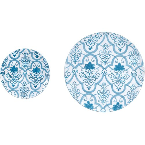 Metal Wall Decor Plates (Set of 2)