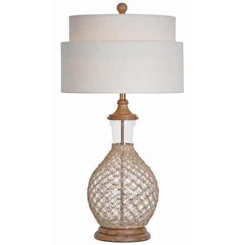 "Couture, Inc. Coastal Retreat Sawgrass 27"" H Table Lamp with Drum Shade"