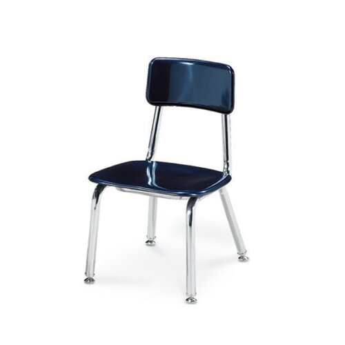 """Virco 3300 Series 12"""" Chrome Classroom Glides Chair"""