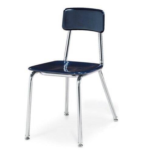 """Virco 3300 Series 18"""" Chrome Classroom Glides Chair"""