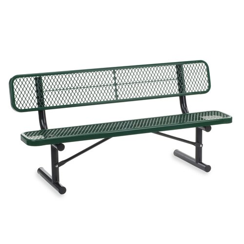 Virco Outdoor Metal and Plastic Garden Bench