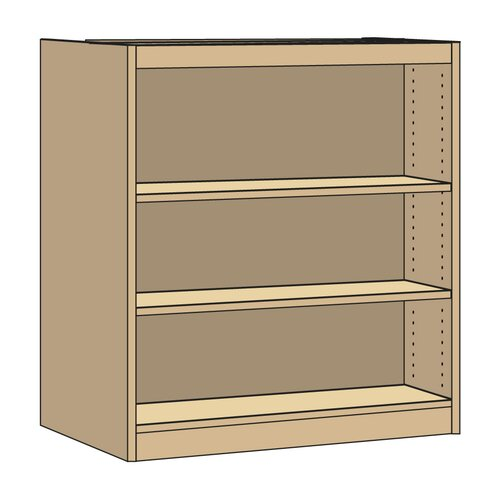 "Virco Double-Faced Starter Library 42"" Bookcase"