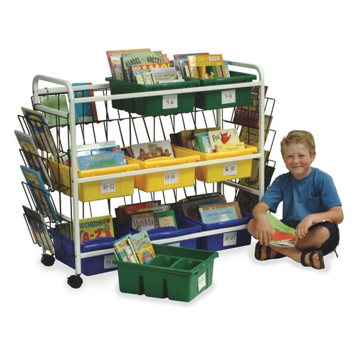 Virco Deluxe Library Book Browser Cart 9 Compartment Cubby