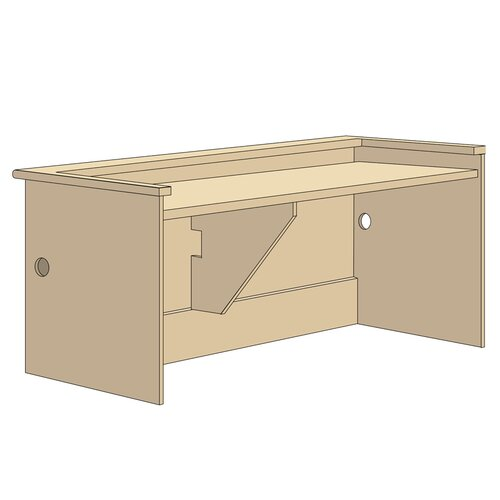 Virco Patron Desk Shell Unit