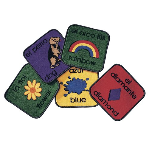 Virco 18 Children's English and Spanish Bilingual Area Rug