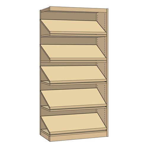 "Virco Single-Faced Library Periodical 82"" Bookcase"