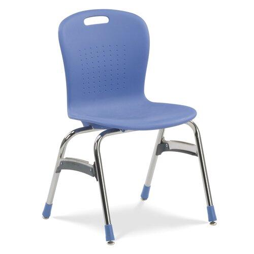"Virco Sage Series 18"" Plastic Classroom Glides Chair"