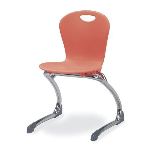 "Virco Zuma 13.5"" Plastic Classroom Cantilever Chair"