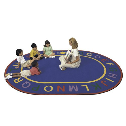 Virco Children's Blue Alpha Area Rug