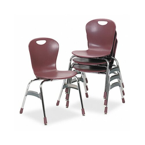 Virco Ergonomic Armless Stacking Chair