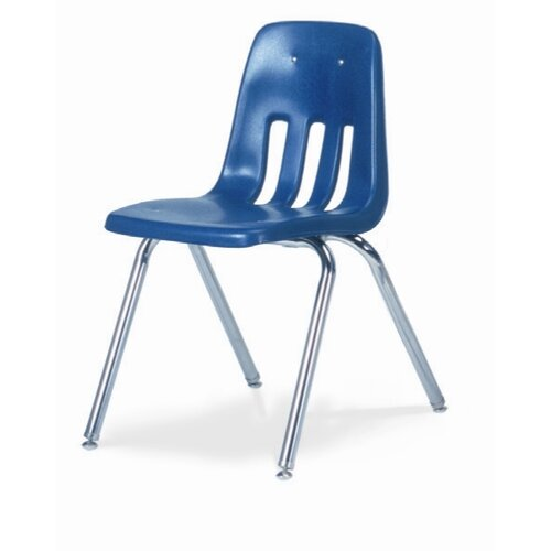 "Virco 9000 Series 18"" Plastic Classroom Glides Chair"