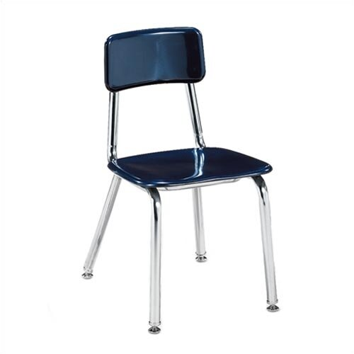 "Virco 3300 Series 16"" Chrome Classroom Glides Chair"