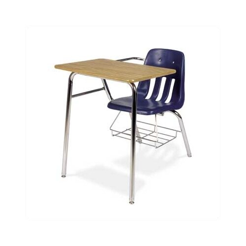 """Virco 9000 Series 30"""" Laminate Particleboard Chair Combo Desk with Bookrack"""