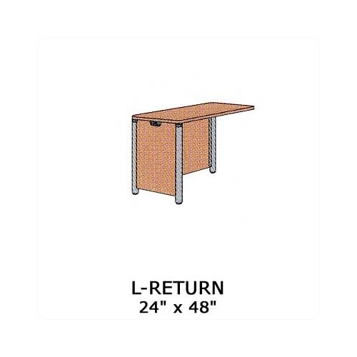 "Virco Plateau Office 29"" H x 48"" W Desk L-Return"