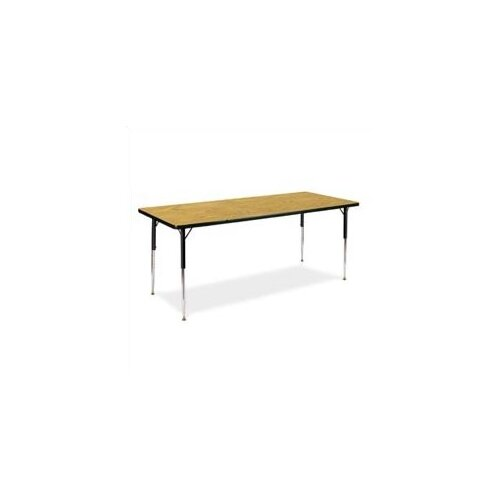"Virco 4000 Series Activity Table with Fully Chrome Short Legs (30"" x 72"")"