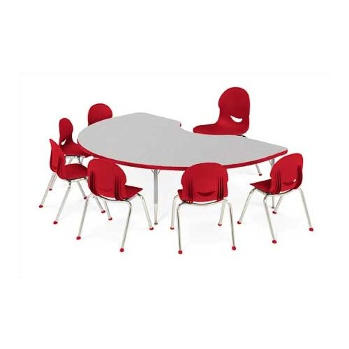 Virco 4000 Series Horseshoe Activity Table with Short Legs