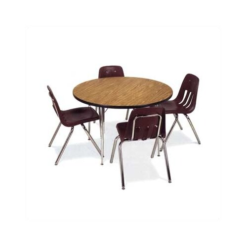 "Virco 4000 Series 42"" Round Activity Table with Fully Chrome Short Legs"