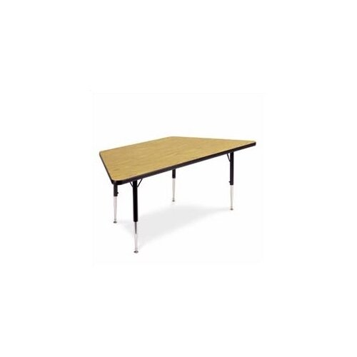 "Virco 4000 Series Trapezoidal Activity Table with Non-Adjustable Chrome Legs (30"" x 60"")"