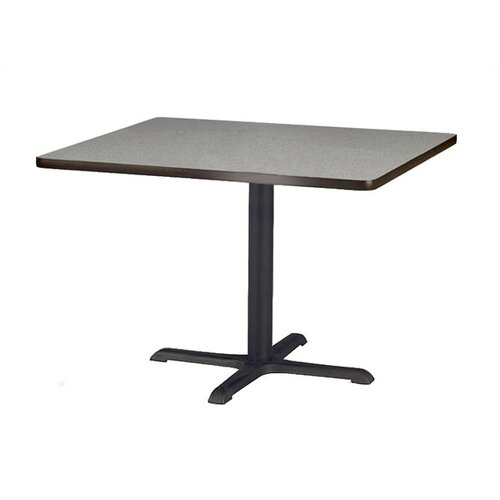 "Virco Lunada Cross-Shaped Cast Iron Table Base (22"" x 22"" x 29"")"