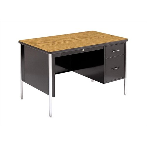 "Virco 540 Series 30"" Laminate Particleboard Teacher's Computer Desk"