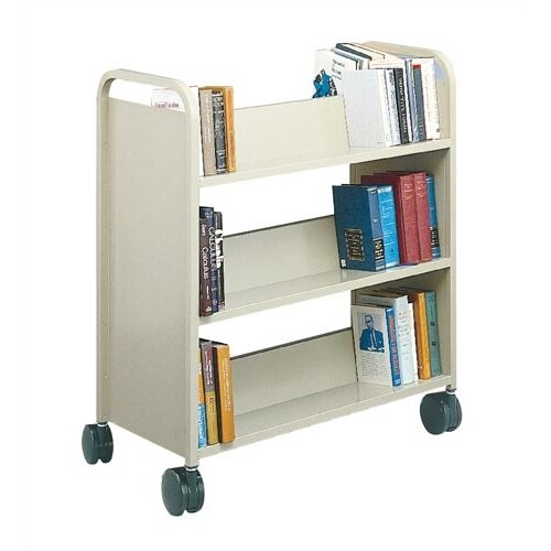 Virco Two-Sided Library Truck with 6 Sloping Shelves
