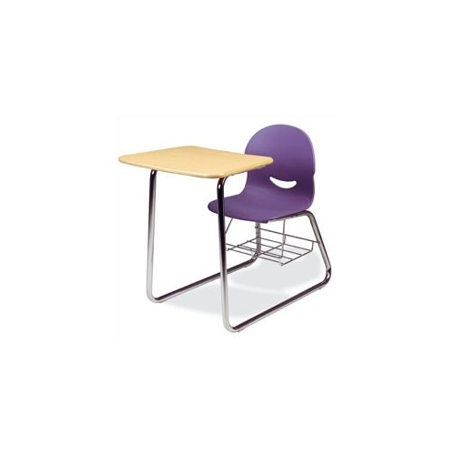 "Virco I.Q. Series 32"" Plastic Combo Chair Desk with Sled-Base"