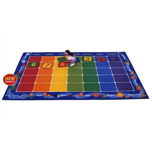 Virco Children's Calendar Kids Rug
