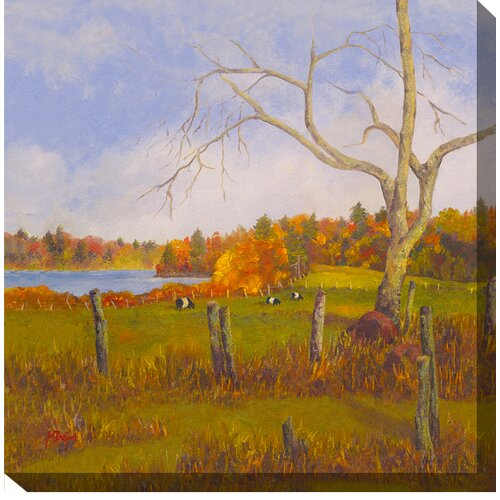 West of the Wind Outdoor Canvas Art Just Grazing Painting Print on Canvas