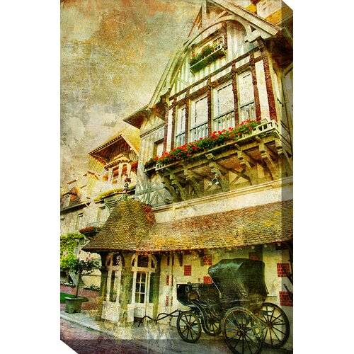 Carriage in Graphic Art on Canvas