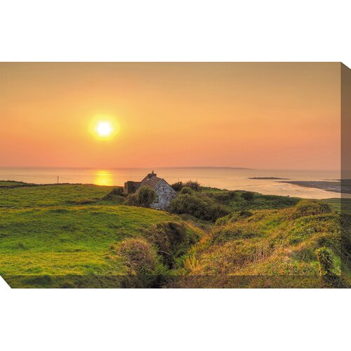 West of the Wind Outdoor Canvas Art Irish Cottage Photographic Print on Canvas