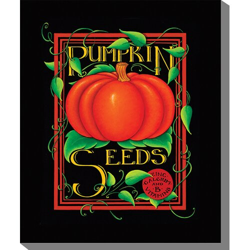 West of the Wind Outdoor Canvas Art Pumpkin Seeds Graphic Art on Canvas