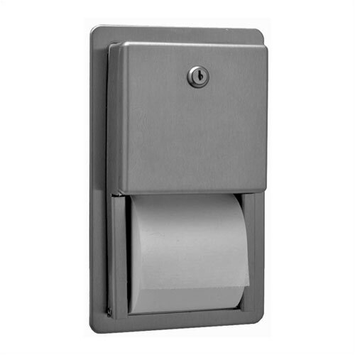 Bobrick Classic™ Series Recessed Multi-Roll Toilet Paper Dispenser