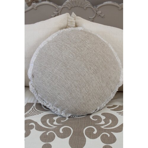 Heavenly Round Silk Decorative Pillow