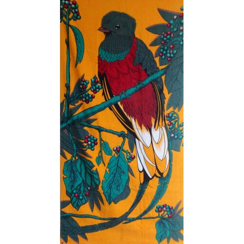 Kaufman Sales Quetzal Bird Printed Beach Towel