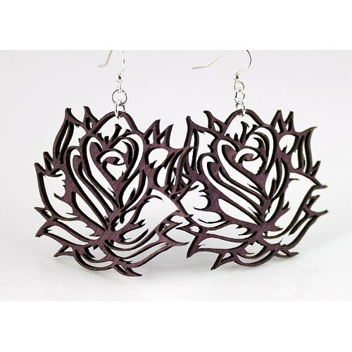Abstract Rose Earrings