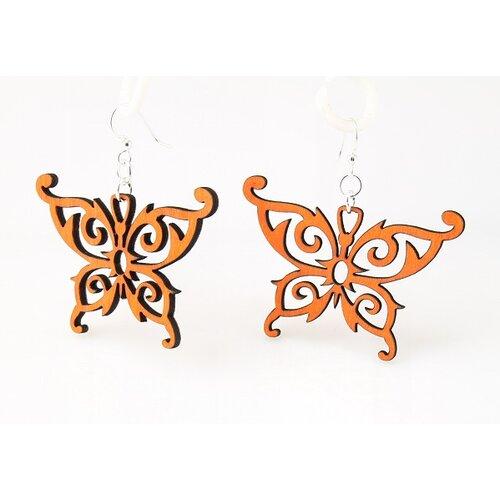 Green Tree Jewelry Butterfly Earrings