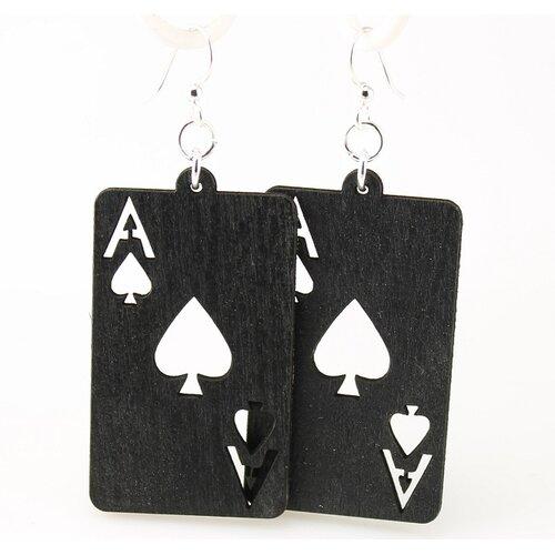 Green Tree Jewelry Ace of Spades Earrings