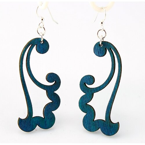 Green Tree Jewelry Blowing Wind Earrings in Kelly Green