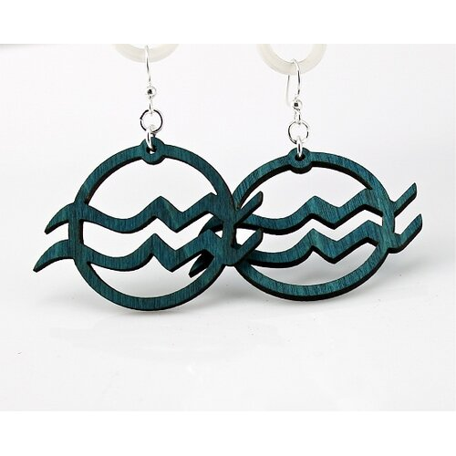 Green Tree Jewelry Aquarius Earrings