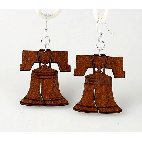 Green Tree Jewelry Liberty Bell Drop Earrings