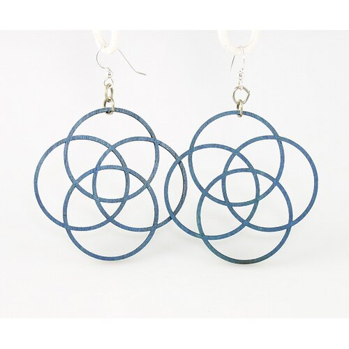 Four Circles Drop Earrings
